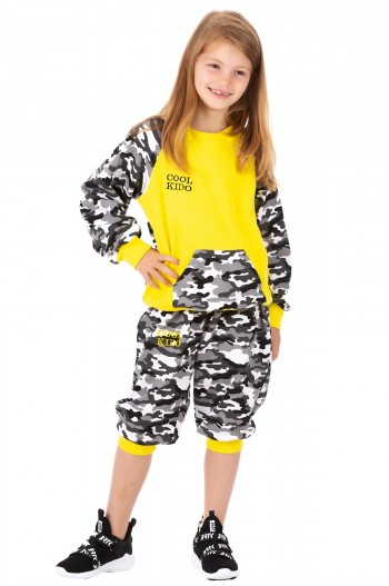 Trening Cool Kido Camuflage Yellow