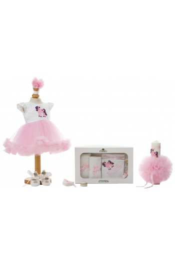 Set Botez Unicorn Roz
